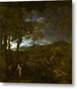 Landscape With Elijah And The Angel Metal Print