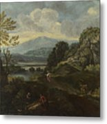 Landscape With Figures Metal Print