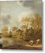 Landscape With Fishers Metal Print