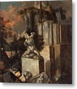 Landscape With Ruins Metal Print