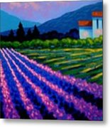 Lavender Field France Metal Print