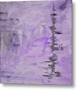 Lavender Gray Abstract Metal Print