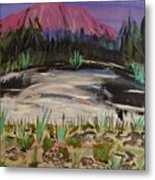Lavender Mountain Metal Print by Marie Bulger