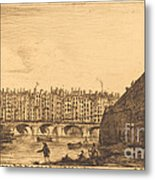 Le Pont-au-change, Paris, Vers 1784 Metal Print