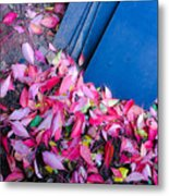 Leaves Slate Metal Print