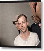 Lee Harvey Oswald Dallas Police Station Dallas Texas Unknown Photographer 1963 Metal Print