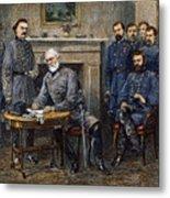 Lees Surrender, 1865 Metal Print