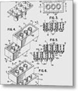 Lego Toy Building Brick Patent  Metal Print