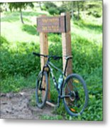 Leisure Cross Contry Cyclists Metal Print