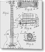 Les Paul  Guitar Patent From 1955 Metal Print