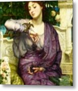 Lesbia And Her Sparrow Metal Print