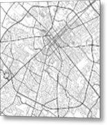 Lexington Kentucky Usa Light Map Metal Print