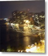 Light Streamers - View From The Top Metal Print