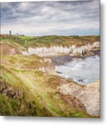 Lighthouse And Cliffs Metal Print