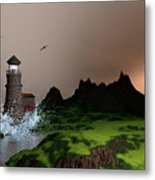 Lighthouse Landscape By John Junek Fine Art Prints And Posters Metal Print