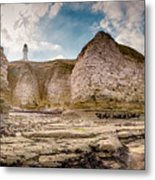 Lighthouse On The Cliff Metal Print