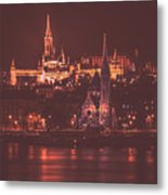 Lights Of Budapest Metal Print