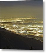 Lights Of Los Angeles, California Metal Print