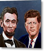 Lincoln And Kennedy Metal Print