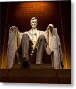 Lincoln Memorial At Night - Washington D.c. Metal Print