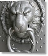 Lion And Snake Metal Print