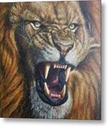 Lion Roar Metal Print
