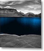 Liquid Blue Metal Print