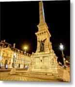 Lisbon By Night Metal Print