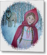 Little Red Riding Hood  Metal Print by The Art With A Heart By Charlotte Phillips