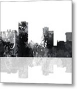 Little Rock Arkansas Skyline Metal Print