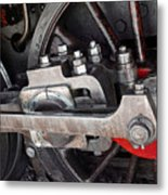 Locomotive Wheel Metal Print