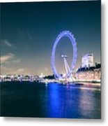 London Cityscape On River Thames Metal Print