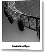 London Eye, London, Uk. Metal Print