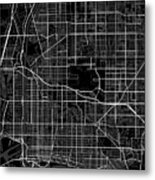 Long Beach California Usa Dark Map Metal Print