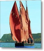 Looe Lugger 'our Daddy' Metal Print