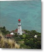 Looking Down At The Lighthouse Metal Print