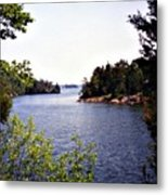Looking Out Over The River Metal Print