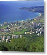 Looking Over Jounieh Bay From Harissa Metal Print