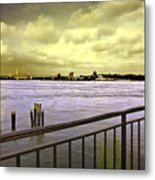 Looking West From The East River Metal Print