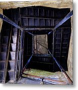 Lookout Tower On A Civil War Battlefield In Antietam Creek Maryl Metal Print