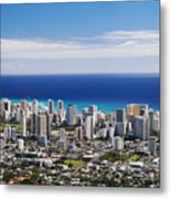 Lookout View Of Honolulu Metal Print