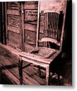 Loomis Ranch Chair Metal Print