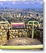 Los Angeles Skyline From Mulholland Metal Print