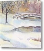 Lost Lagoon Bridge Metal Print