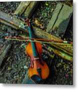 Lost Violin Metal Print