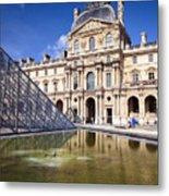 Louvre Museum Architecture Paris Metal Print