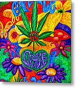 Love And Peace Metal Print
