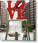Love Sculpture Metal Print