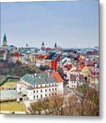 Lublin Old Town Panorama Poland Metal Print