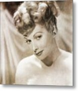 Lucille Ball By Mary Bassett Metal Print